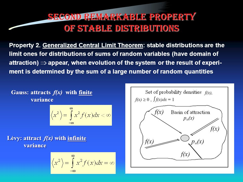 second remarkable property of stable distributions