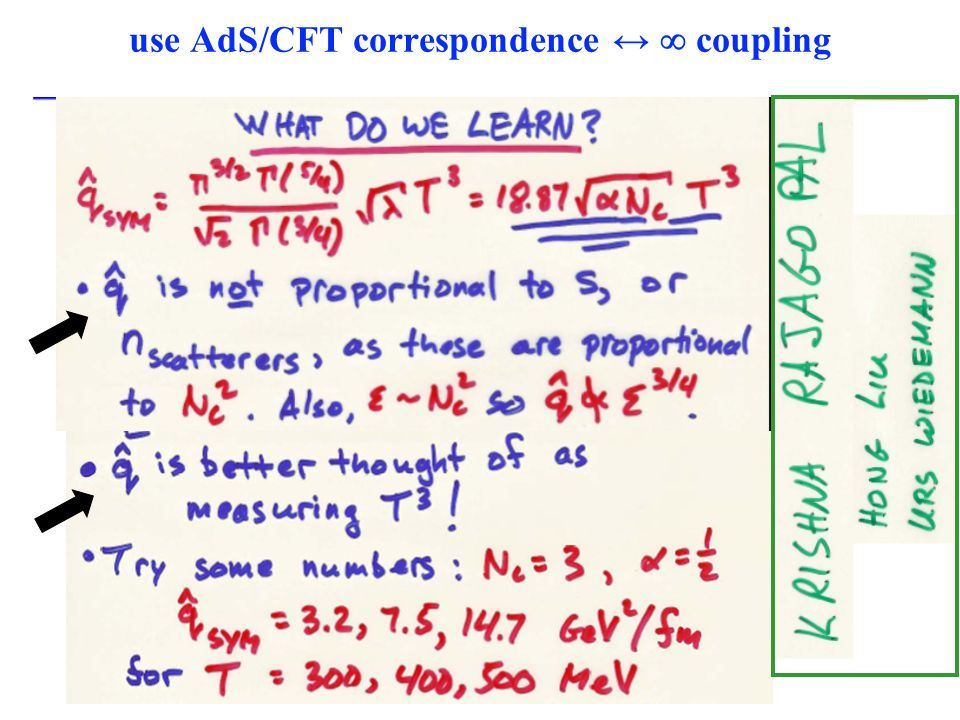 use AdS/CFT correspondence ↔  coupling