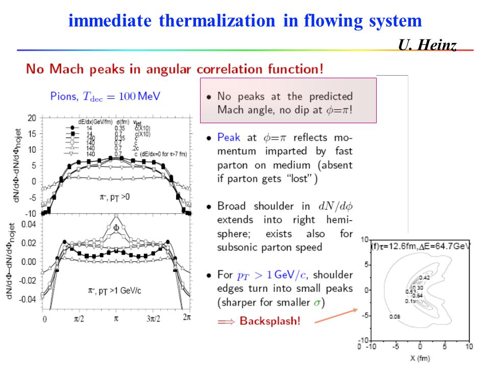 immediate thermalization in flowing system
