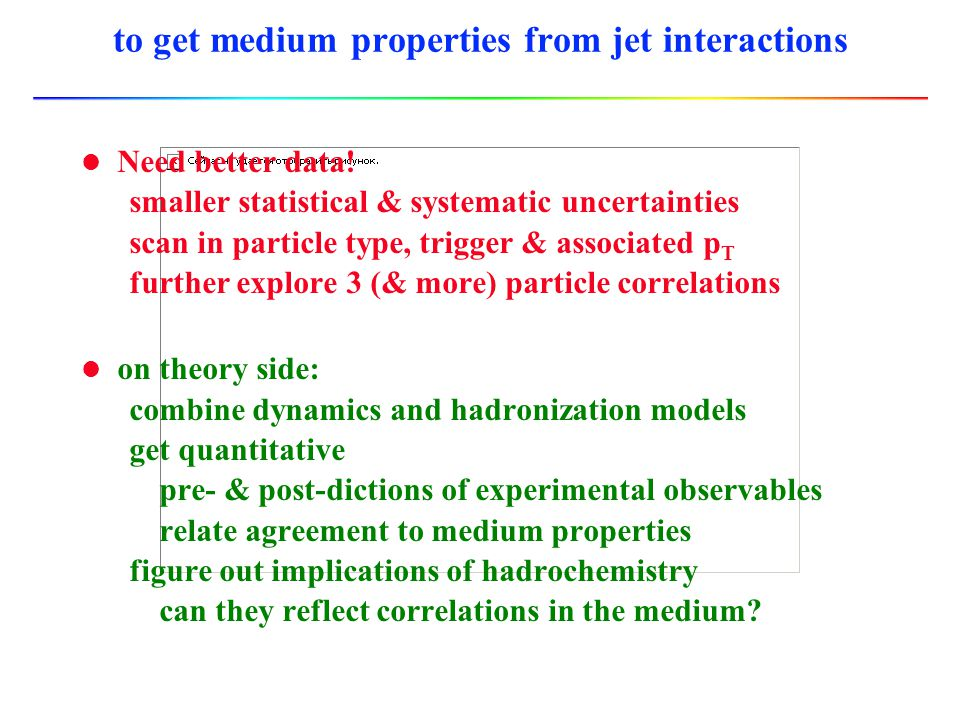 to get medium properties from jet interactions