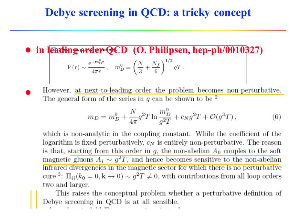 Debye screening in QCD: a tricky concept