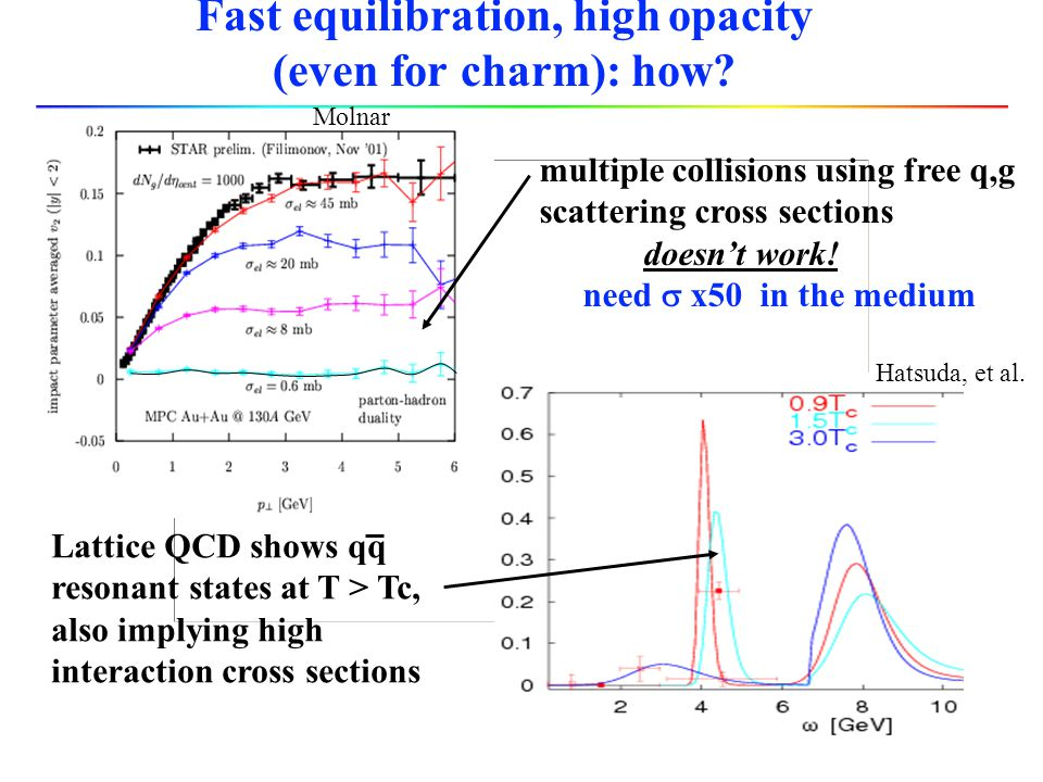 Fast equilibration, high opacity (even for charm): how