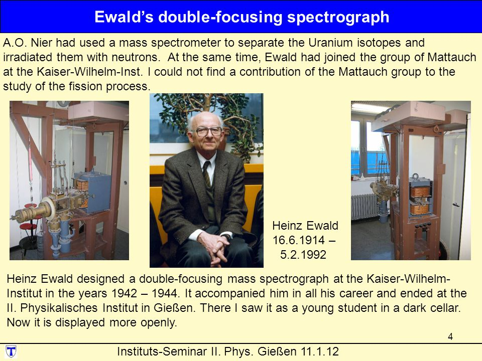 Ewald's double-focusing spectrograph