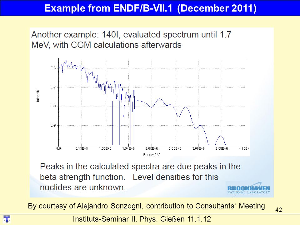 Example from ENDF/B-VII.1 (December 2011)