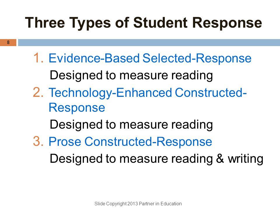 Three Types of Student Response
