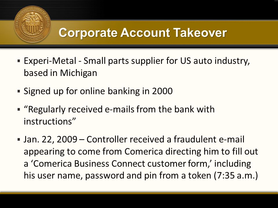 Corporate Account Takeover
