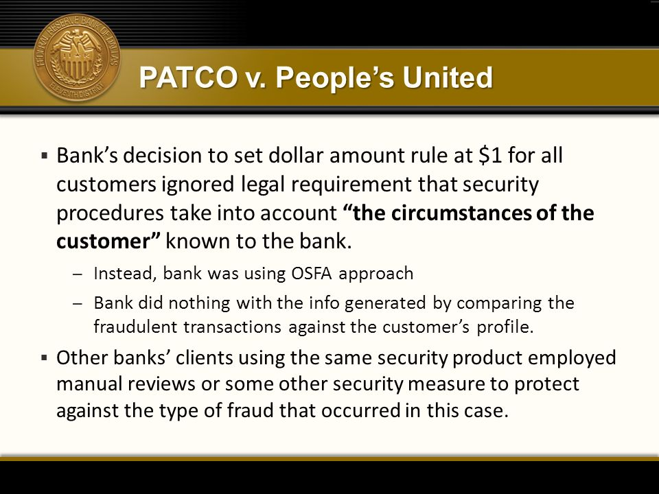 PATCO v. People's United