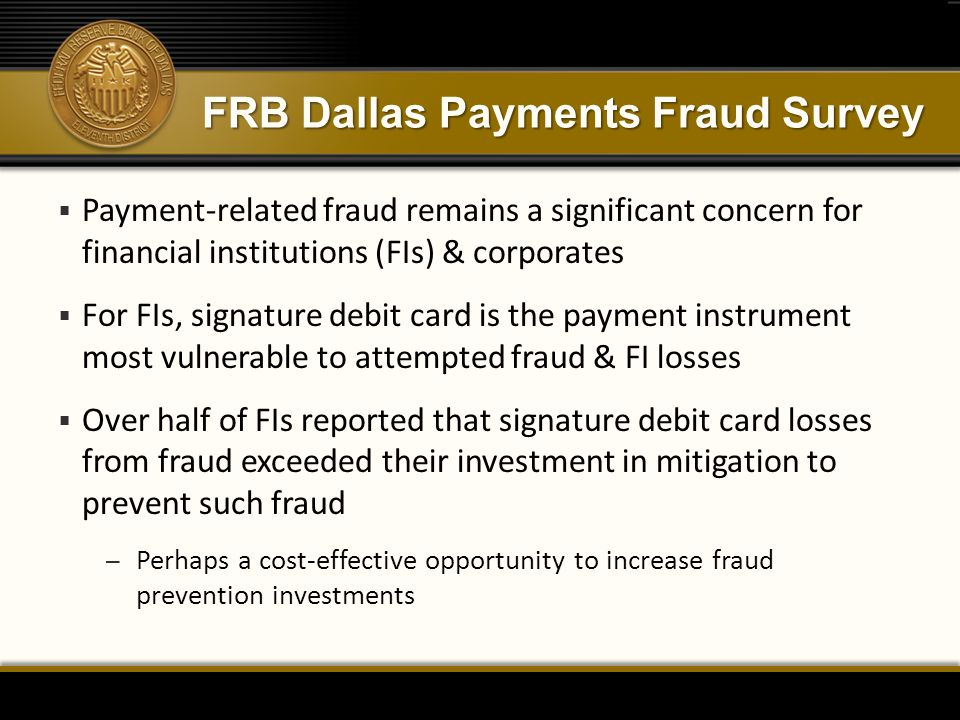 FRB Dallas Payments Fraud Survey