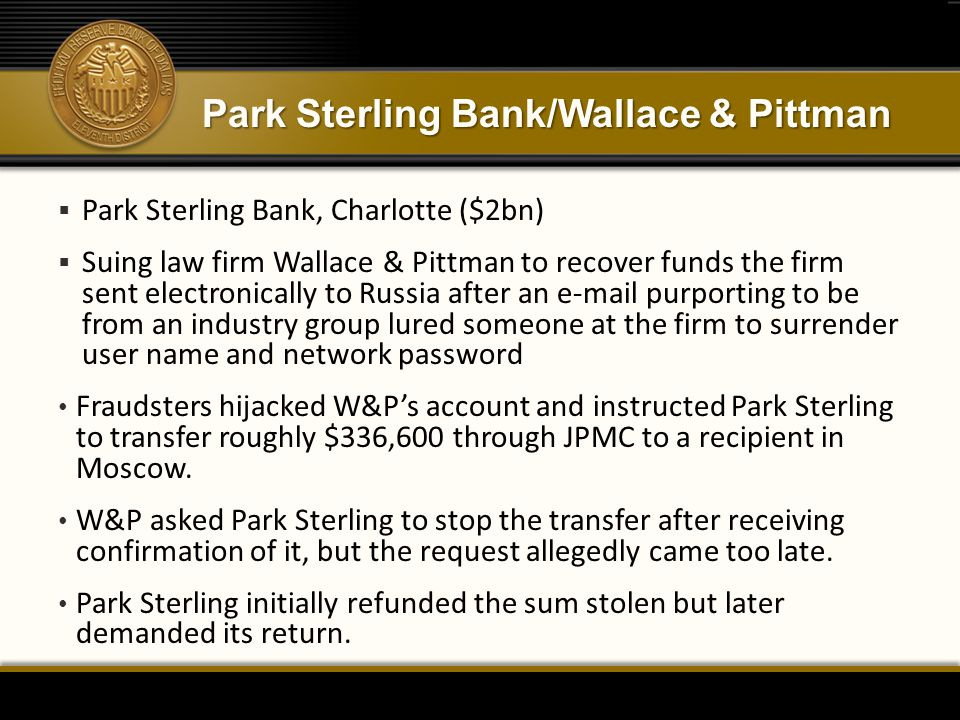 Park Sterling Bank/Wallace & Pittman
