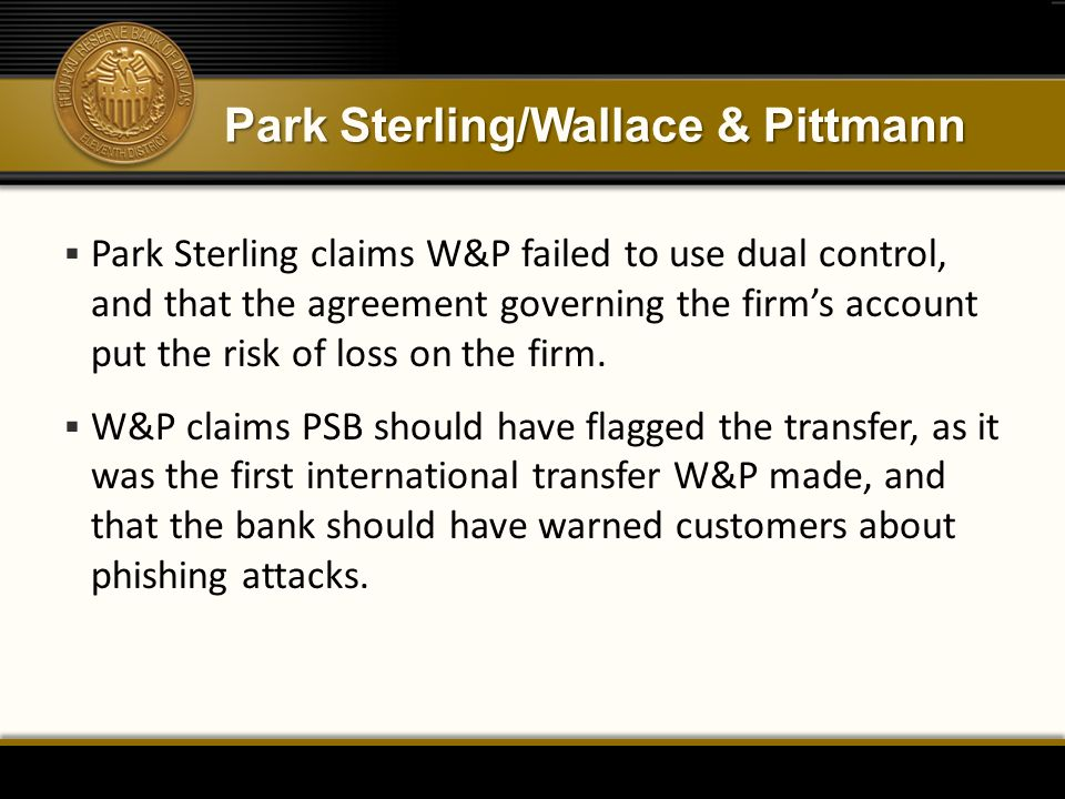 Park Sterling/Wallace & Pittmann