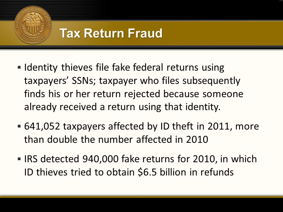 Tax Return Fraud