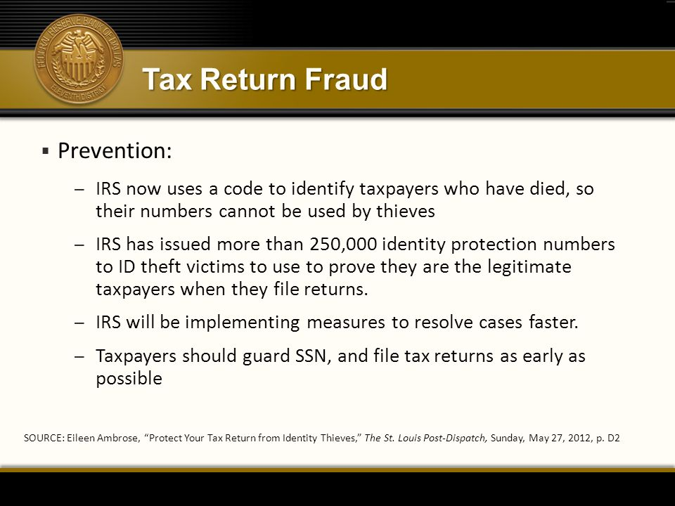 Tax Return Fraud Prevention: