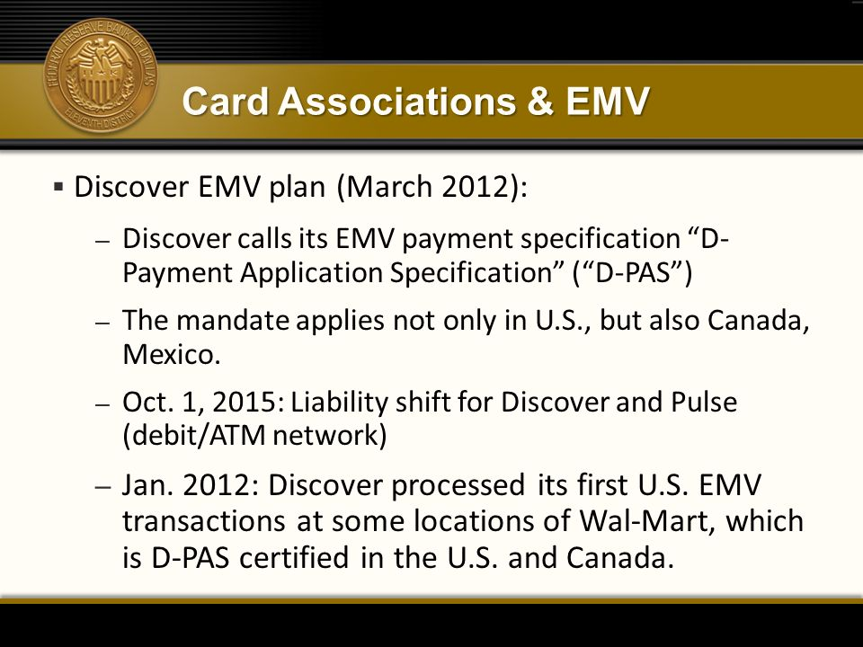 Card Associations & EMV