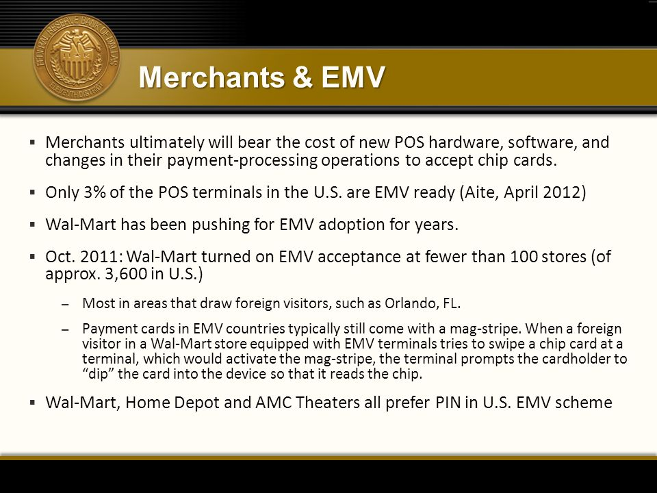 Merchants & EMV