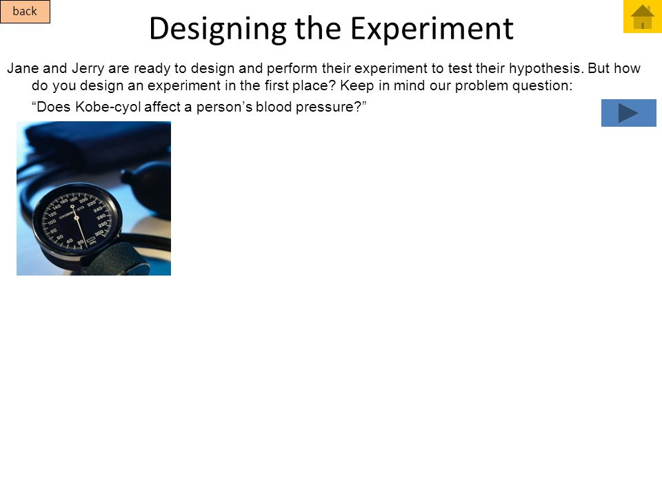 Designing the Experiment