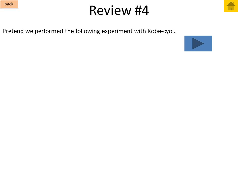 Review #4 back Pretend we performed the following experiment with Kobe-cyol.