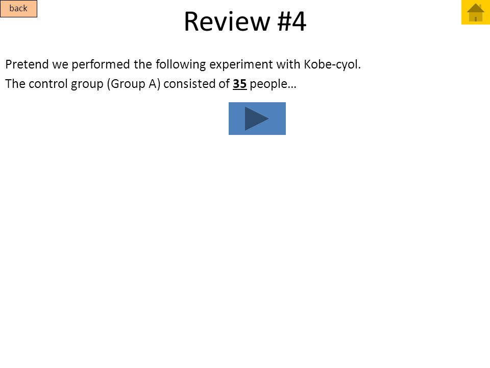 Review #4 back. Pretend we performed the following experiment with Kobe-cyol.