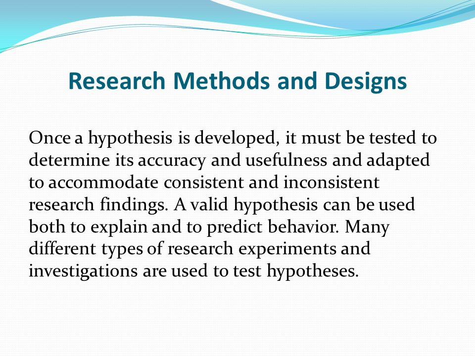 Research Methods and Designs