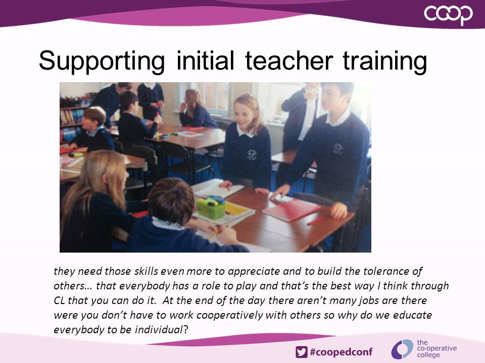 Supporting initial teacher training