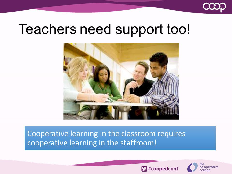 Teachers need support too!