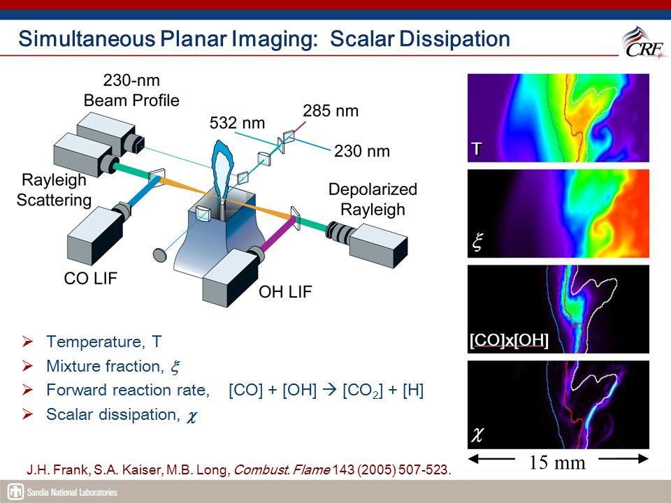 Simultaneous Planar Imaging: Scalar Dissipation
