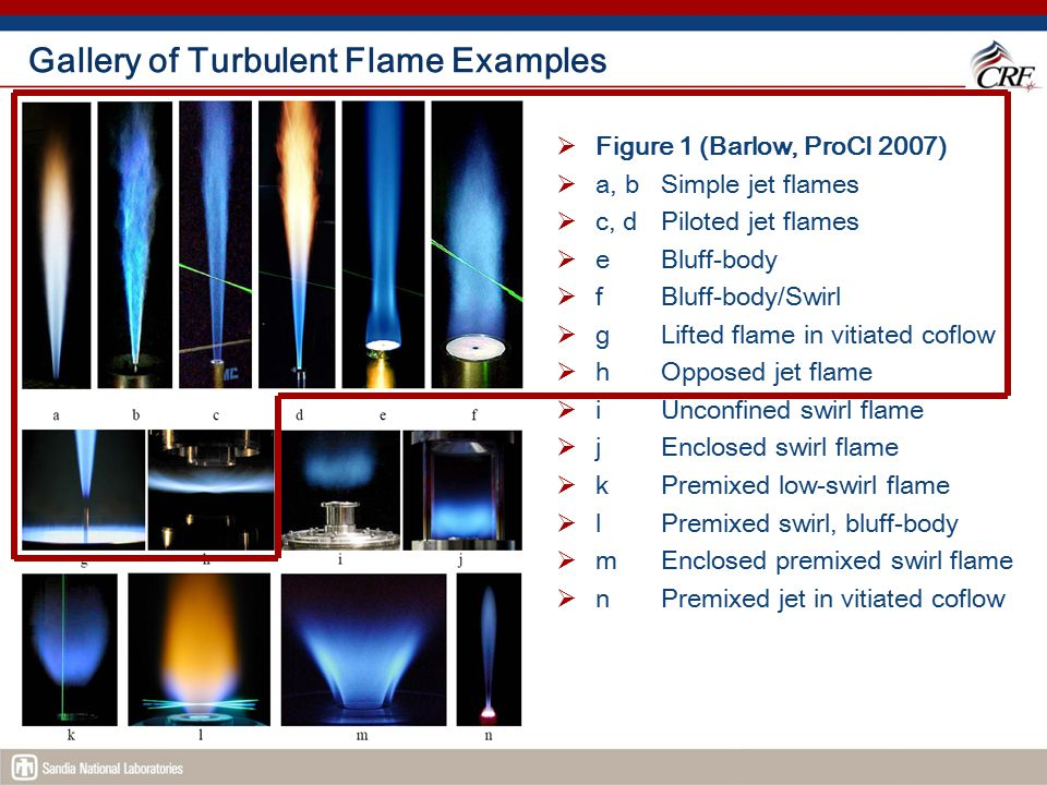 Gallery of Turbulent Flame Examples