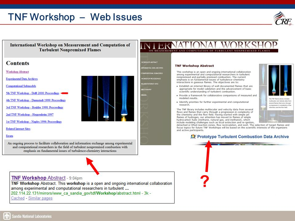 TNF Workshop – Web Issues