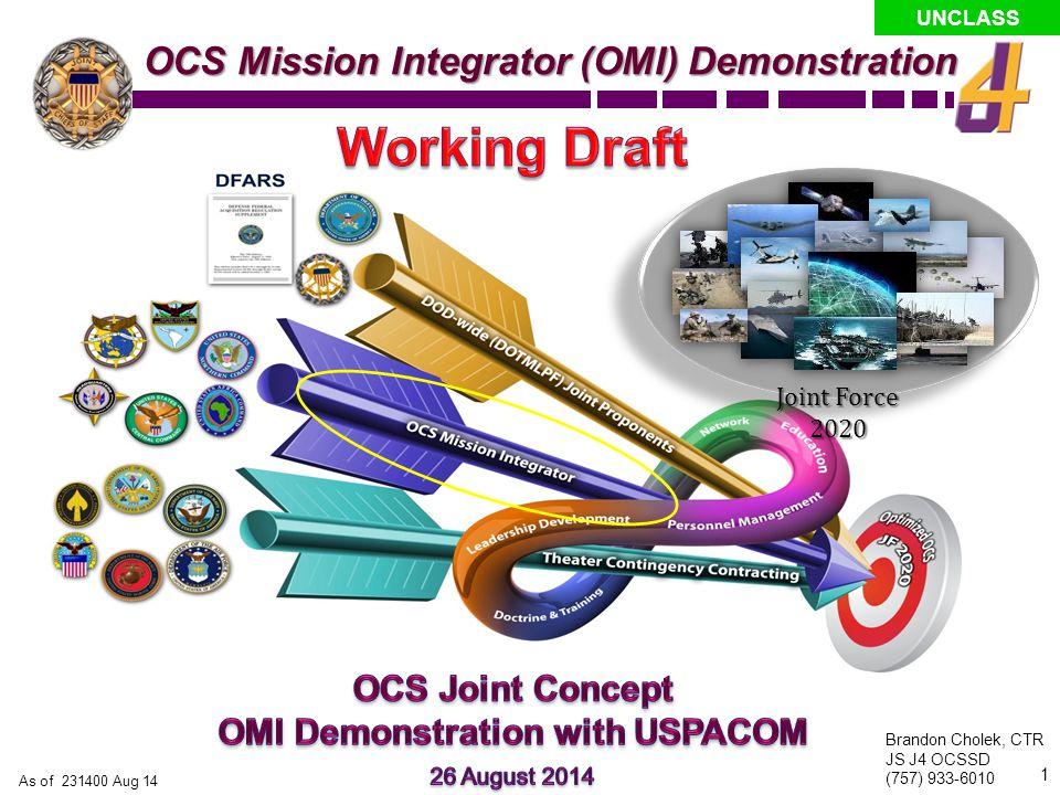 OMI Demonstration with USPACOM