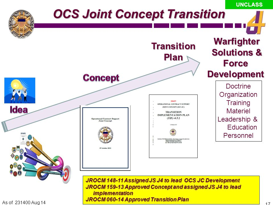 OCS Joint Concept Transition