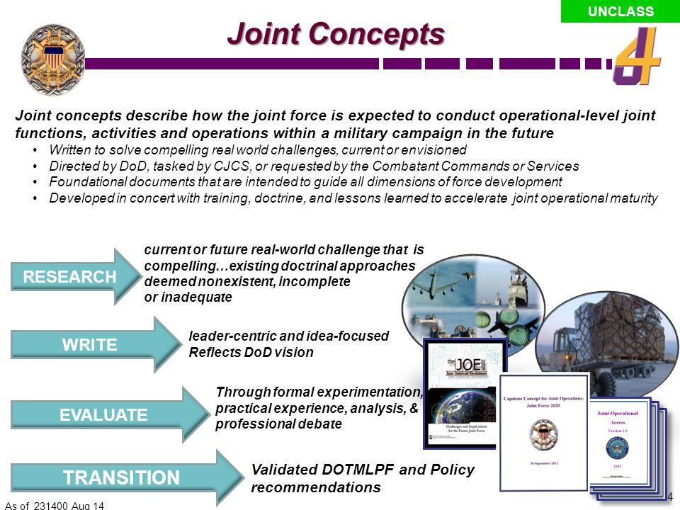 Joint Concepts TRANSITION RESEARCH WRITE EVALUATE