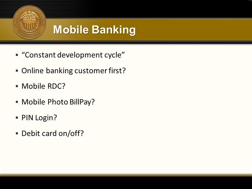 Mobile Banking Constant development cycle