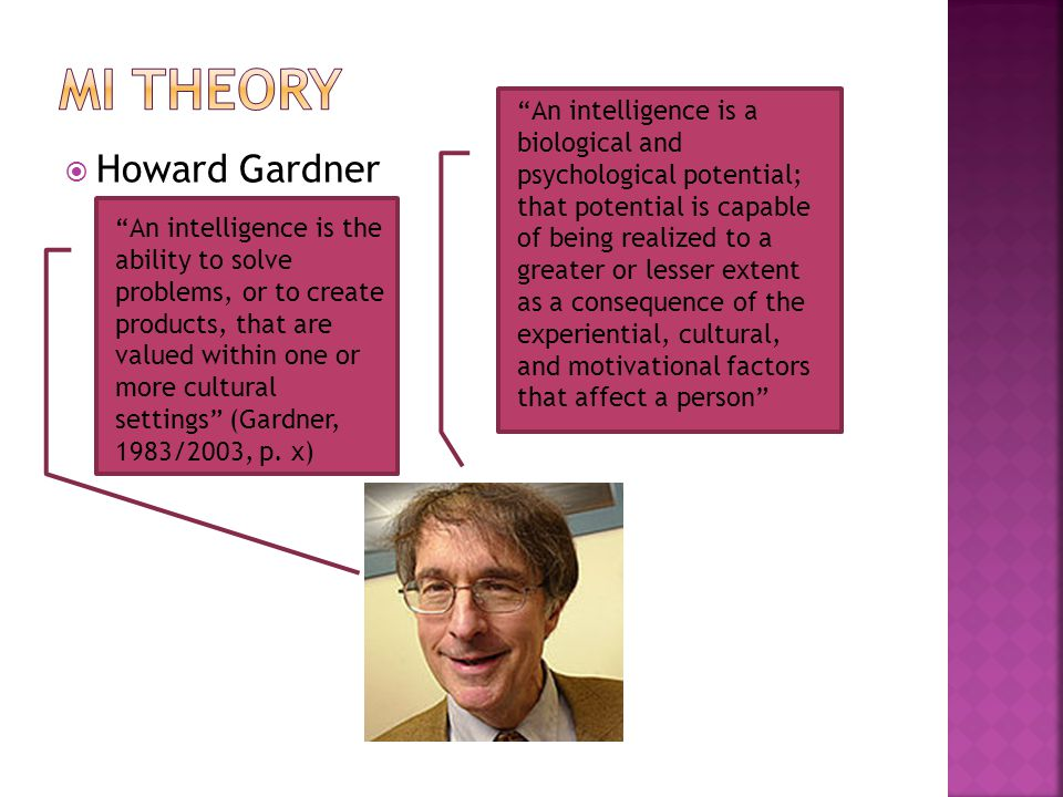 Mi theory Howard Gardner
