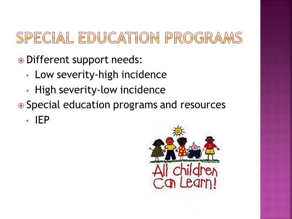 Special education programs