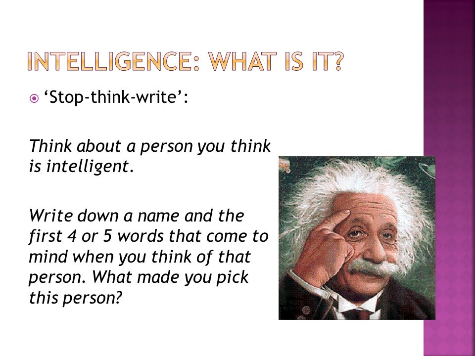 Intelligence: what is it