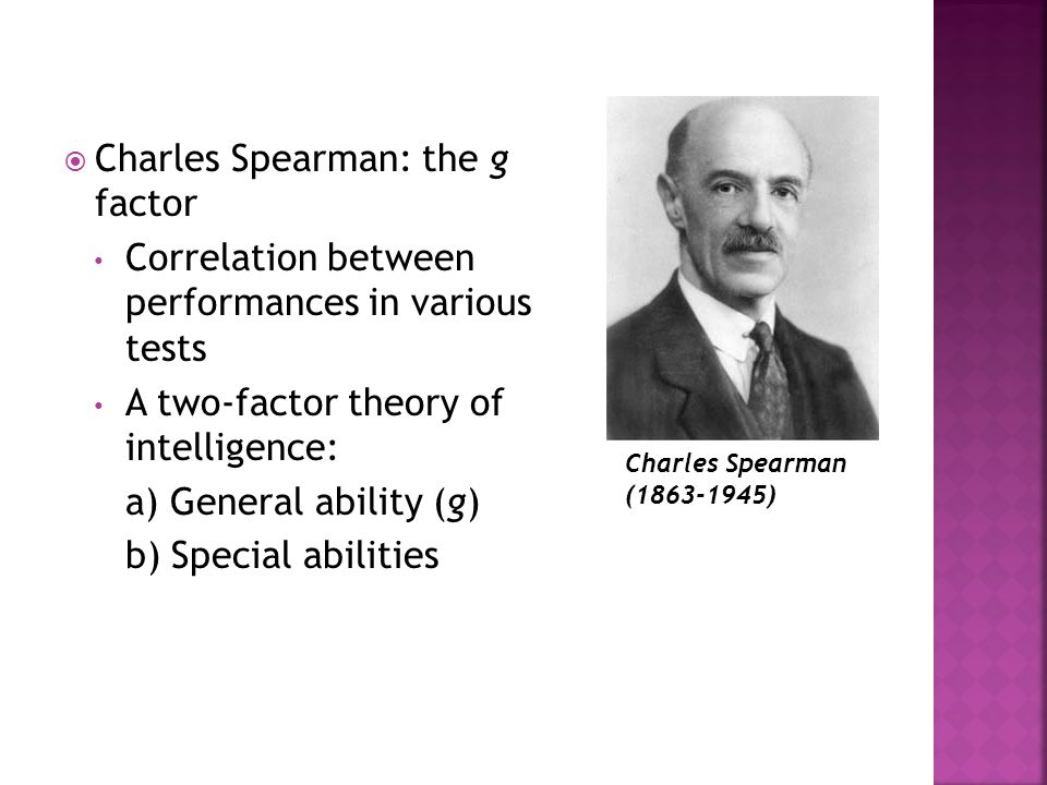 Charles Spearman: the g factor