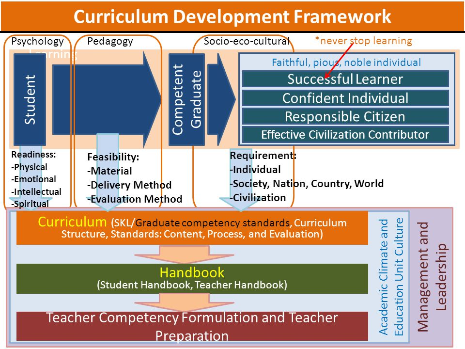 Curriculum Development Framework