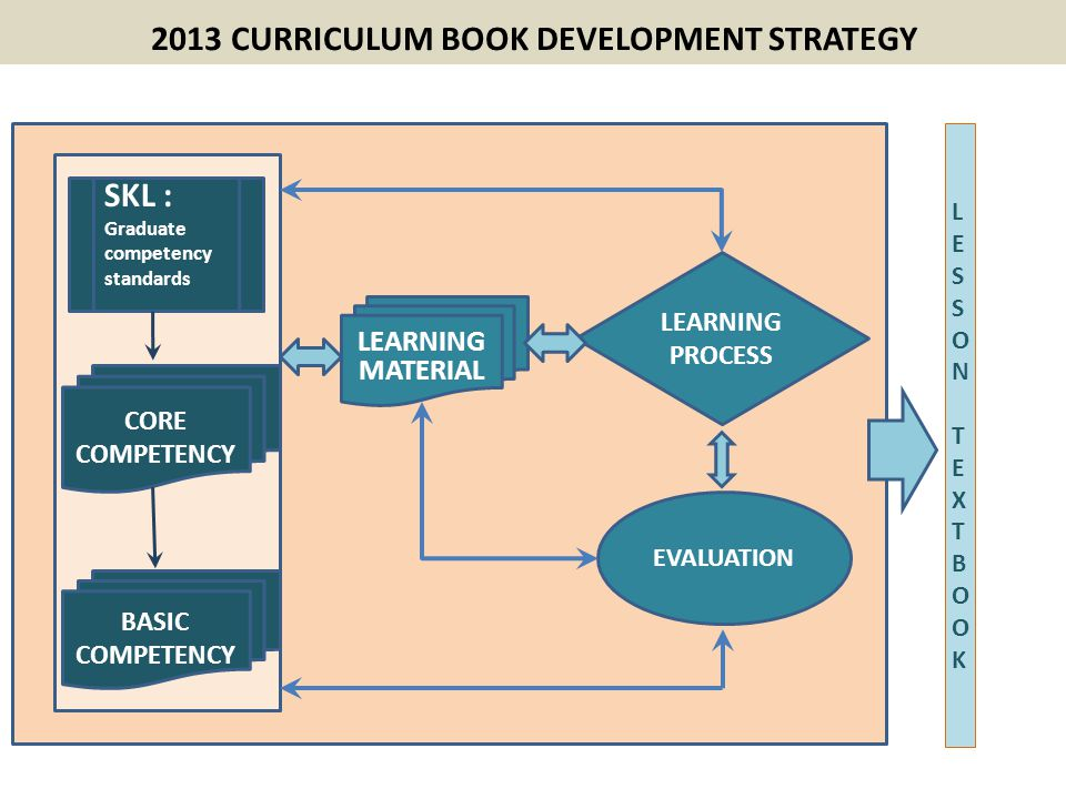 2013 CURRICULUM BOOK DEVELOPMENT STRATEGY