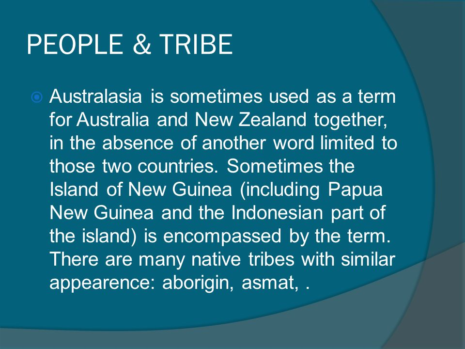 PEOPLE & TRIBE