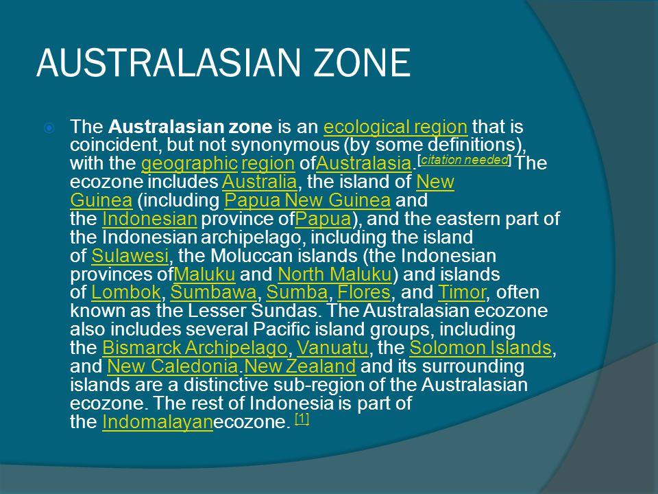 AUSTRALASIAN ZONE