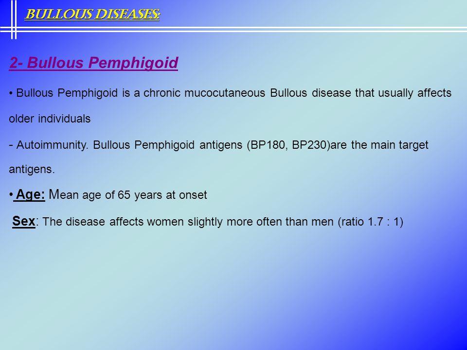 2- Bullous Pemphigoid Bullous Diseases: