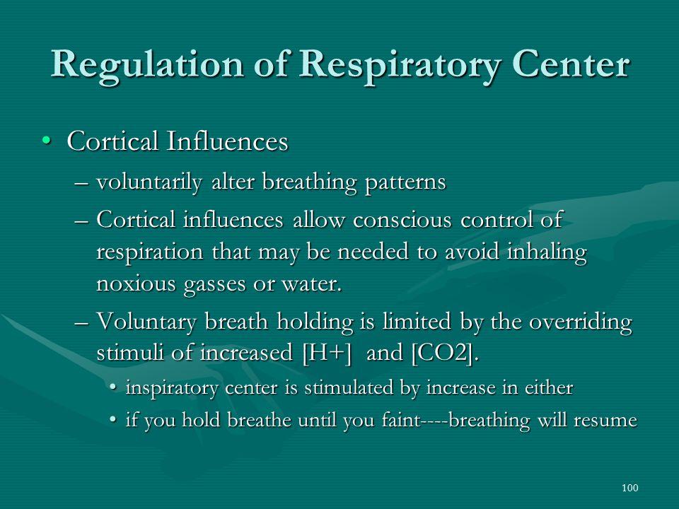 Regulation of Respiratory Center