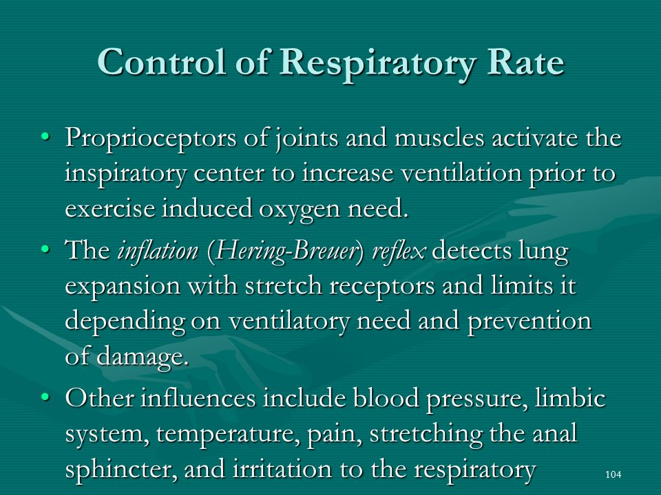 Control of Respiratory Rate
