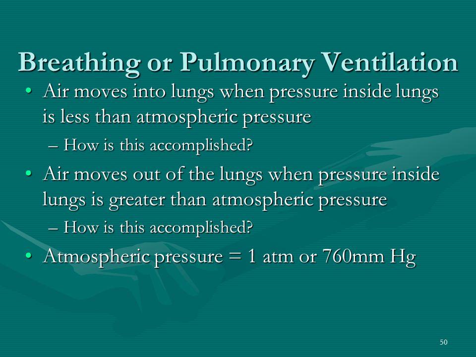 Breathing or Pulmonary Ventilation