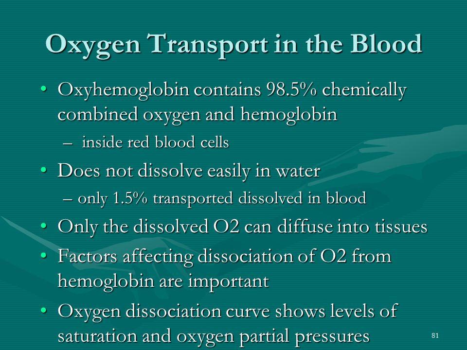 Oxygen Transport in the Blood