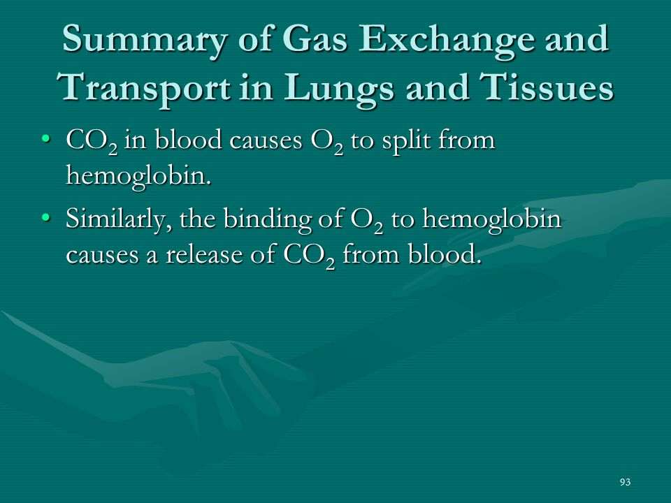Summary of Gas Exchange and Transport in Lungs and Tissues