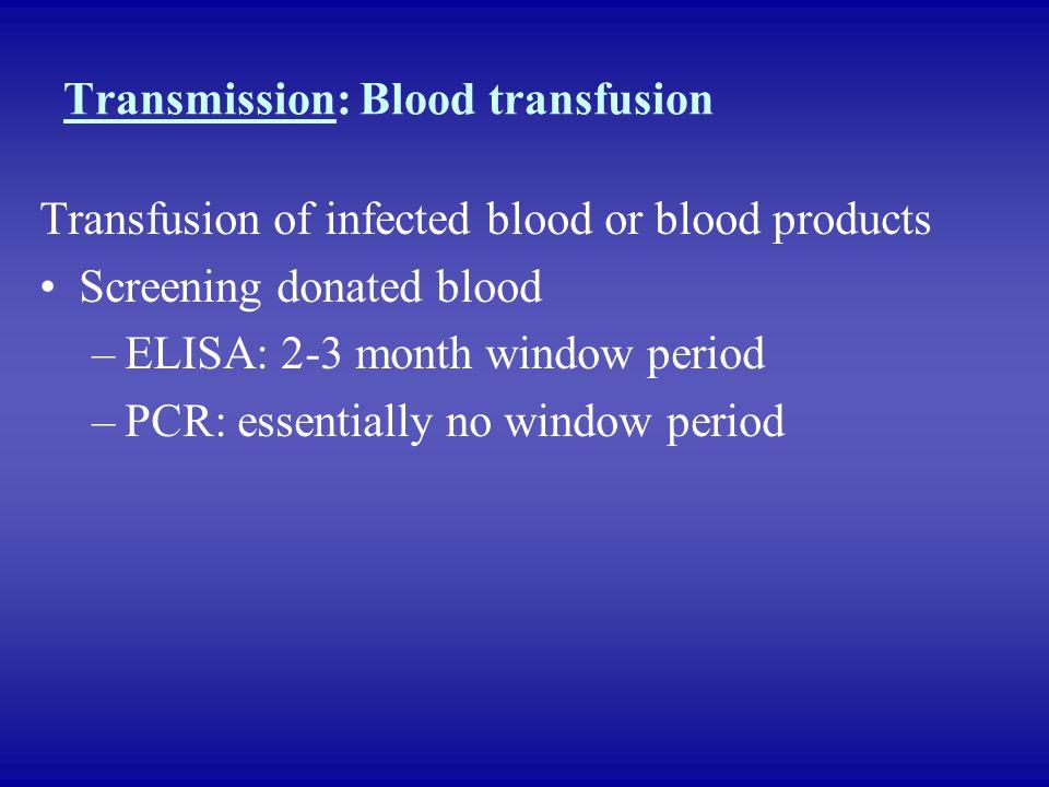 Transmission: Blood transfusion