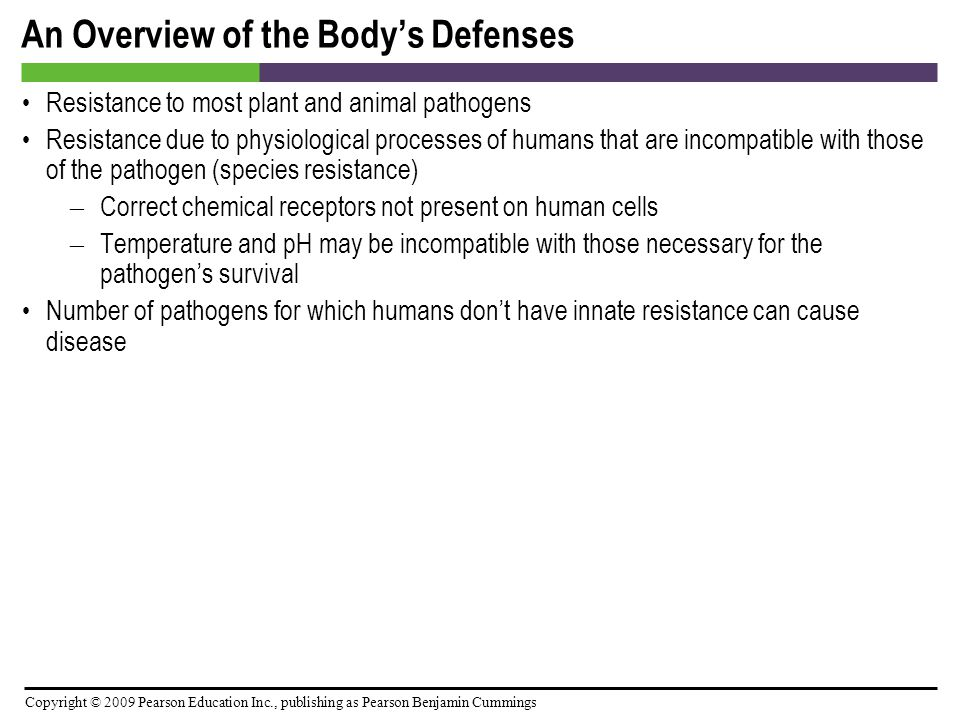An Overview of the Body's Defenses