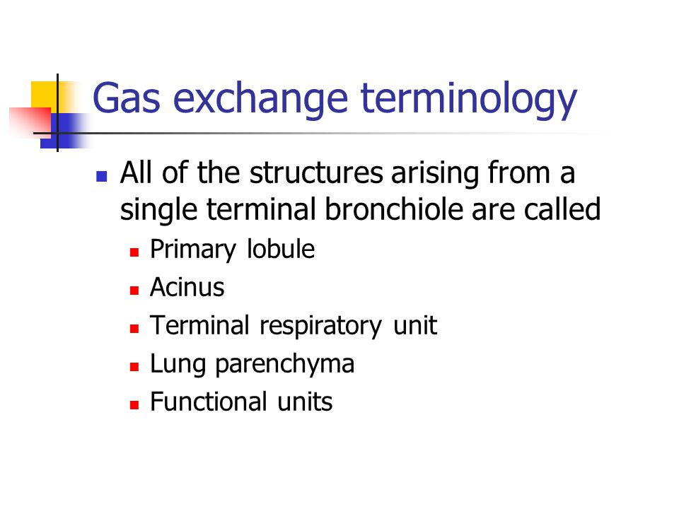 Gas exchange terminology