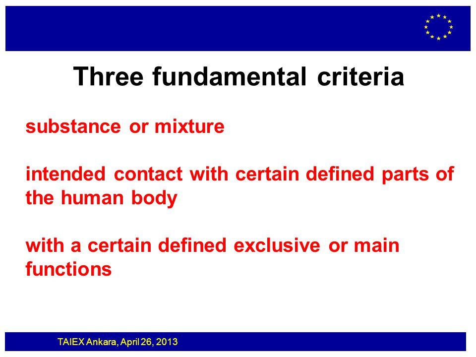 Three fundamental criteria
