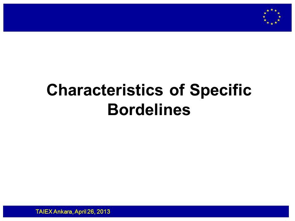 Characteristics of Specific Bordelines